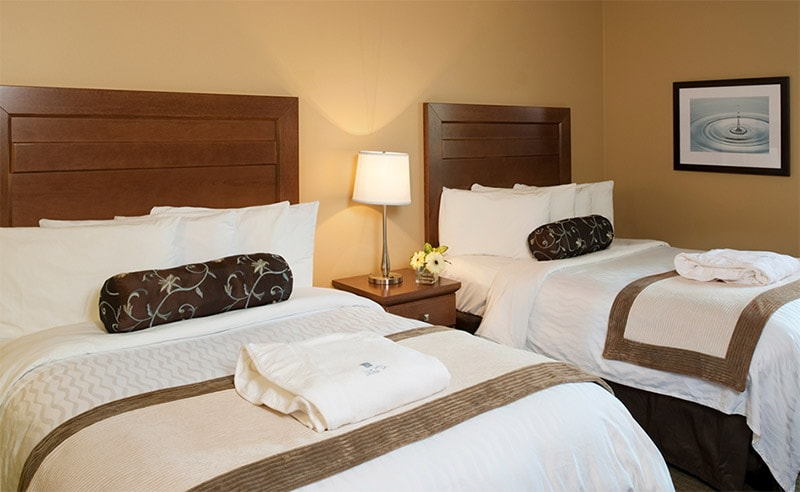 Temple Gardens Hotel & Spa - Standard bedroom with two double beds